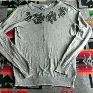 Professional and Cozy Long Sleeve Beaded Top